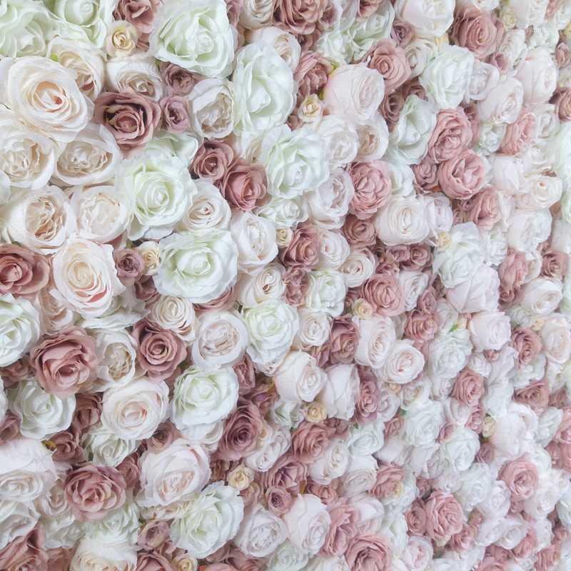 SPR 10 adet / grup Yüksek Düğün Çiçek Duvar Sahne Backdrop Dekoratif Toptan Yapay Çiçek Masa Koşucu Kemer Çiçekler1