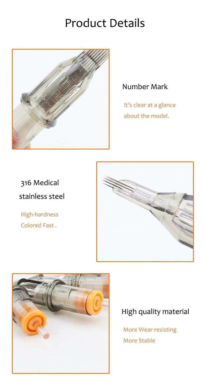 20PCS / صندوق 12 # 0.35mm قسط الوشم الإبرة خراطيش - جولة شادر 05/03 / 09/07 / 13 / 15RS