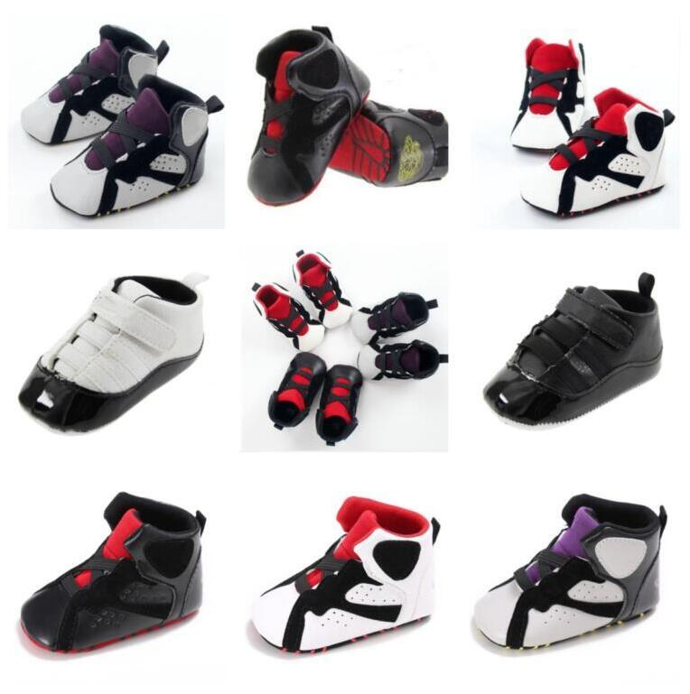 Новая искусственная кожа детские дети первые ходунки младенческие малыши спортивные противоскользящие мягкие подошвы обувь мальчиков и девочек кроссовки новорожденных