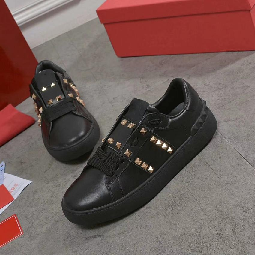 Alle Black Lady Comfort Casual Kleid Schuh Sport Sneaker Herren Casual Leder Schuhe Designer Womens Freizeit Walking Trainer LOWTOP TURNERS