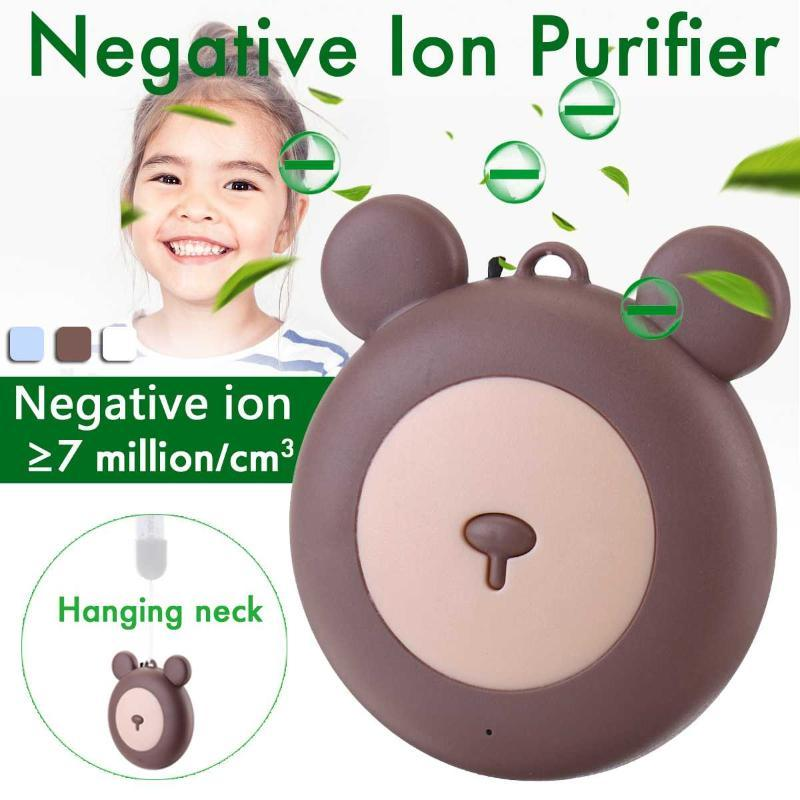 USB Portable Wearable Air Purifier, Personal Mini Air Necklace Negative Ion Freshener - No Radiation Low Noise for child