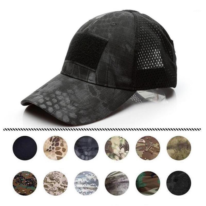 Outdoor Acu MultiCam Operator Hat Fuerza especial Camo Malla gorra gorra para hombres Contratista Táctico EE. UU. Ejército Béisbol Caps1