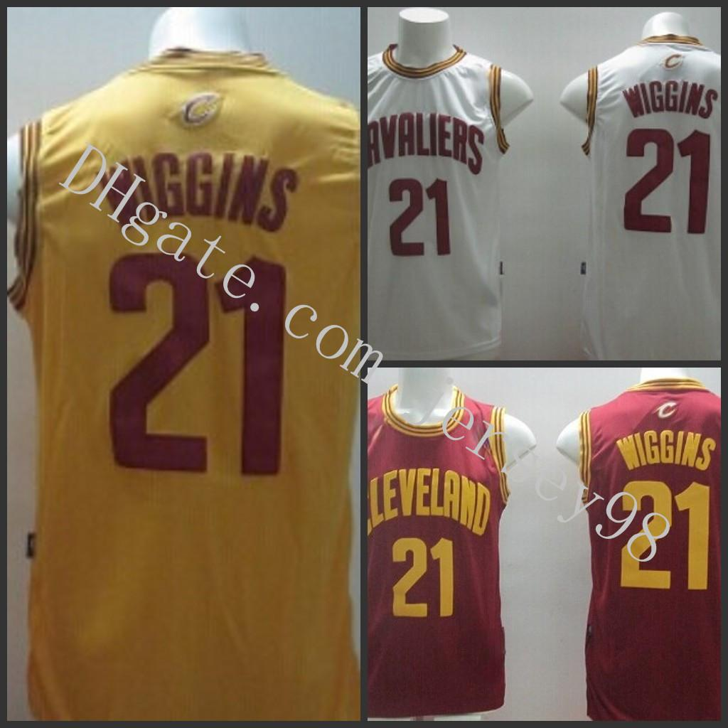 ClevelandCavaliersErkekler # 21Andrew Wigginsfanatik TuruncuNba swingman tanıtım forması
