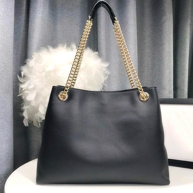 Borsa a tracolla della catena del sacchetto della tote della tote della pelle della vera pelle per le donne Tote Bags Borse della signora delle catene della borsa della borsa della borsa della catena di pelle delle pecore della borsa della borsa