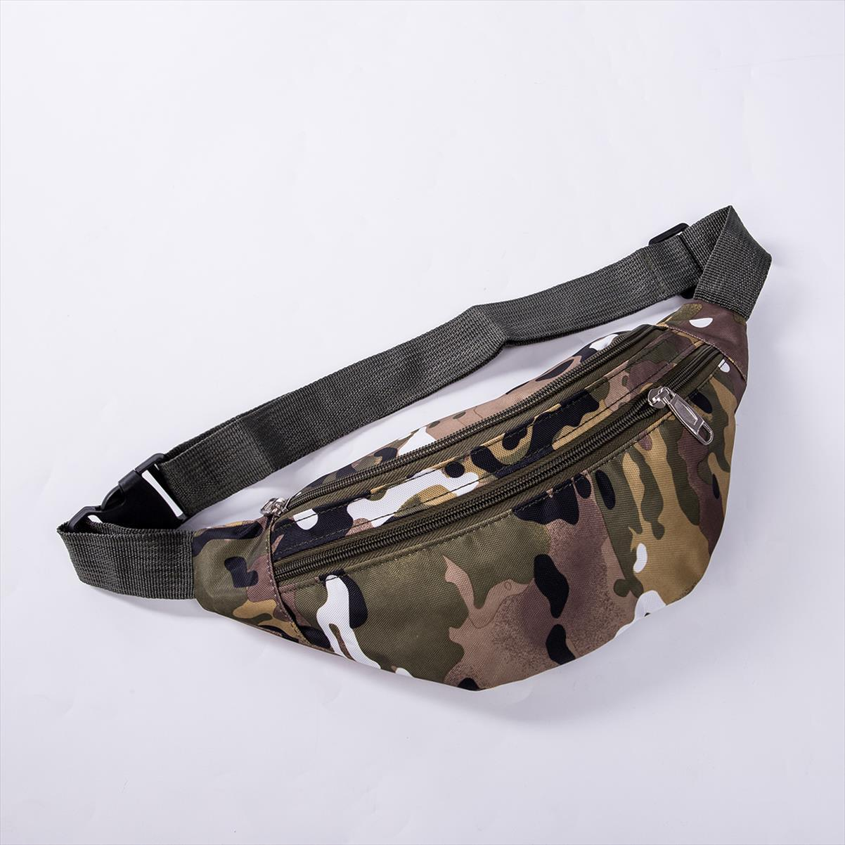 2019 Reise-Reißverschluss Tasche Bum Bumbgag Neueste Taille Geld Gürtel Hot Pouch Pass Security Wallet Camouflage Taille Packs Upflf