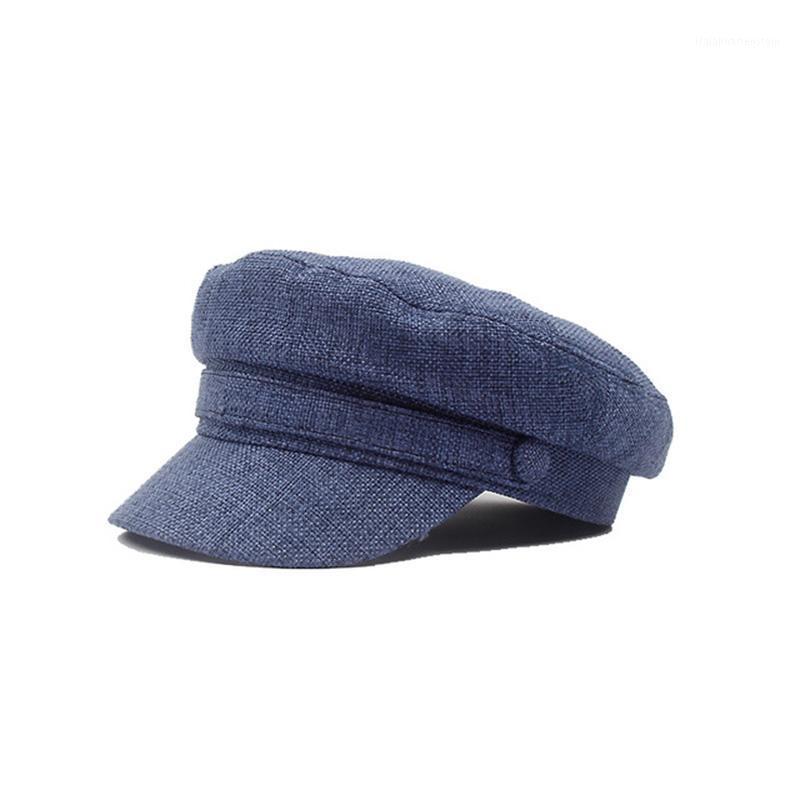 Bérets coton draps femmes béret printemps automne octogonal casquette chapeaux stylé artiste peintre sboy caps casquettes platewear p181