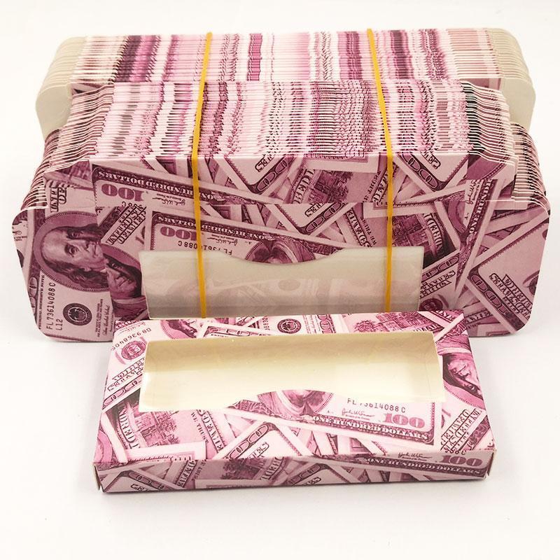 Горячая продажа Розовые мягкие бумажные коробки Ресницы 50pcs / серия Пустой Упаковка Fit 25mm 22mm Long Eye Lash