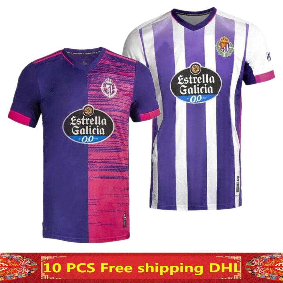 NCAA 20 21 Jerseys de fútbol de Valladolid Real 2020 2021 Real Valladolid Toni Villa Alquiler Camisa de fútbol