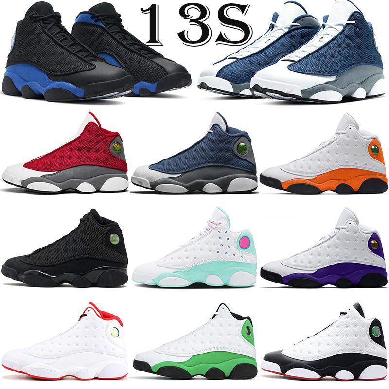 Jumpman Hotsale 13s 13 homens Sapatos de Basquete Moda Trainers ao ar livre Flint Vermelho Gato Preto Aurora Verde Mens Mulheres Esportes Sneakers 5.5-13