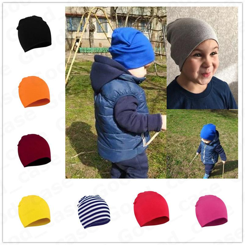 Toddler Newborn Baby Hats Winter Warm Knit Hat Kids Boys Girls Candy Color Knitting Hats Infant Outdoor Beanies Caps Skull Hats F101301