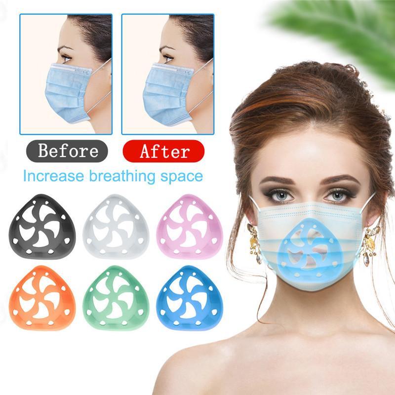 Silicone Masque 3D Support masque facial soutien-cadre pour plus d'espace pour la respiration confortable et protéger Rouge à lèvres EWE2159