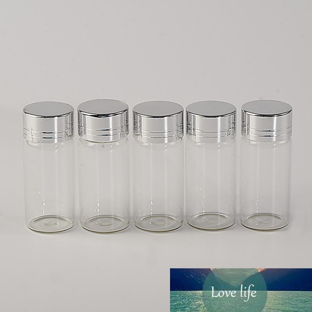 10ml Bouteilles en verre bouchon à vis en aluminium argenté couvercle verre vide Jars Fioles Bouteilles d'étanchéité jusqu'à Mason Jars 10ml 100pcs