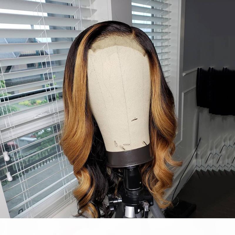 4x4 Spitze Verschluss Perücke Lose Körperwelle Perücke Ombre Highlight 150% Spitze Vorderseite Menschenhaarperücken Für Schwarze Frauen Brasilianisches Remy Haar