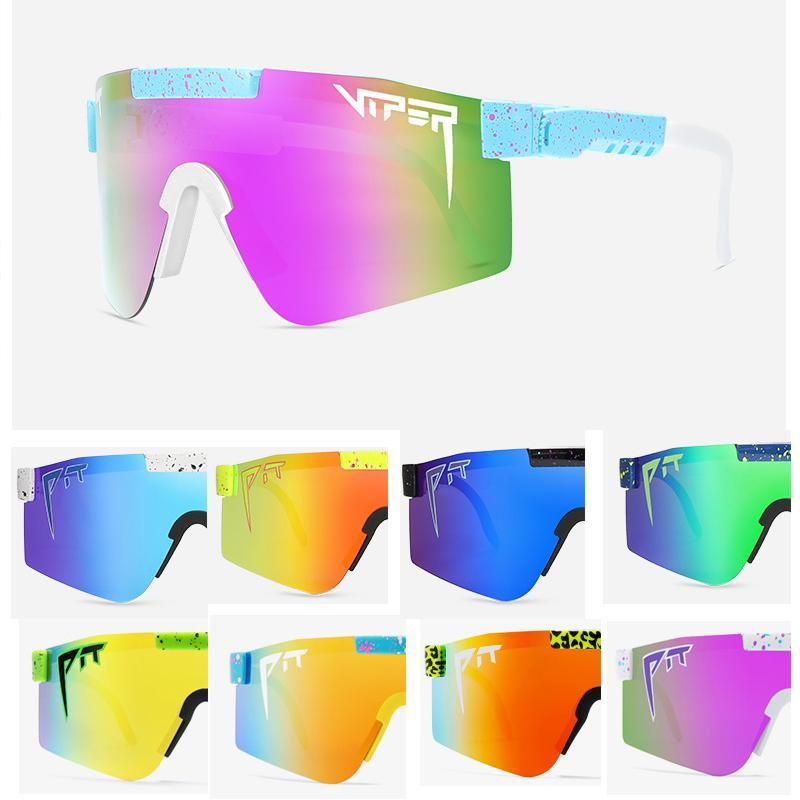 2021 Оригинальный Pit Viper Sport Google TR90 Поляризованные солнцезащитные очки для мужчин / Женщины Открытый Ветрозащитный Очки 100% УФИК Зеркал Подарок
