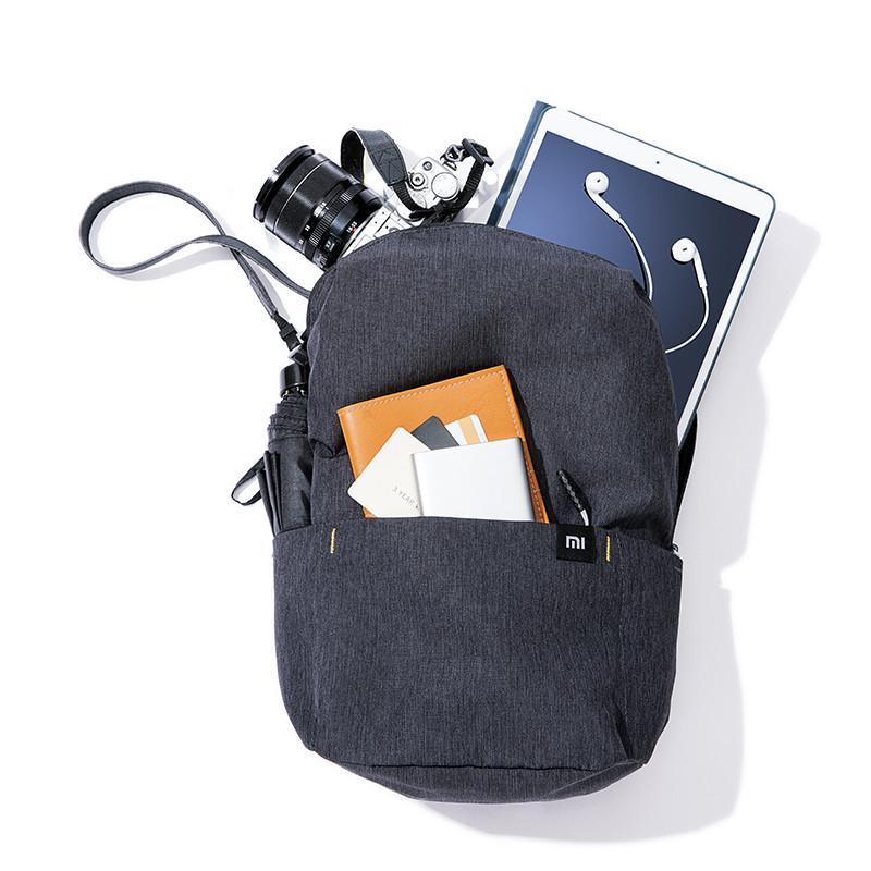 Original Xiaomi pequena mochila 10L / 15L / 20L Urben Lazer homens de saco Feminino Laptop Bagpack Alunos do Ensino Bag Travel Bag Quatro Cores