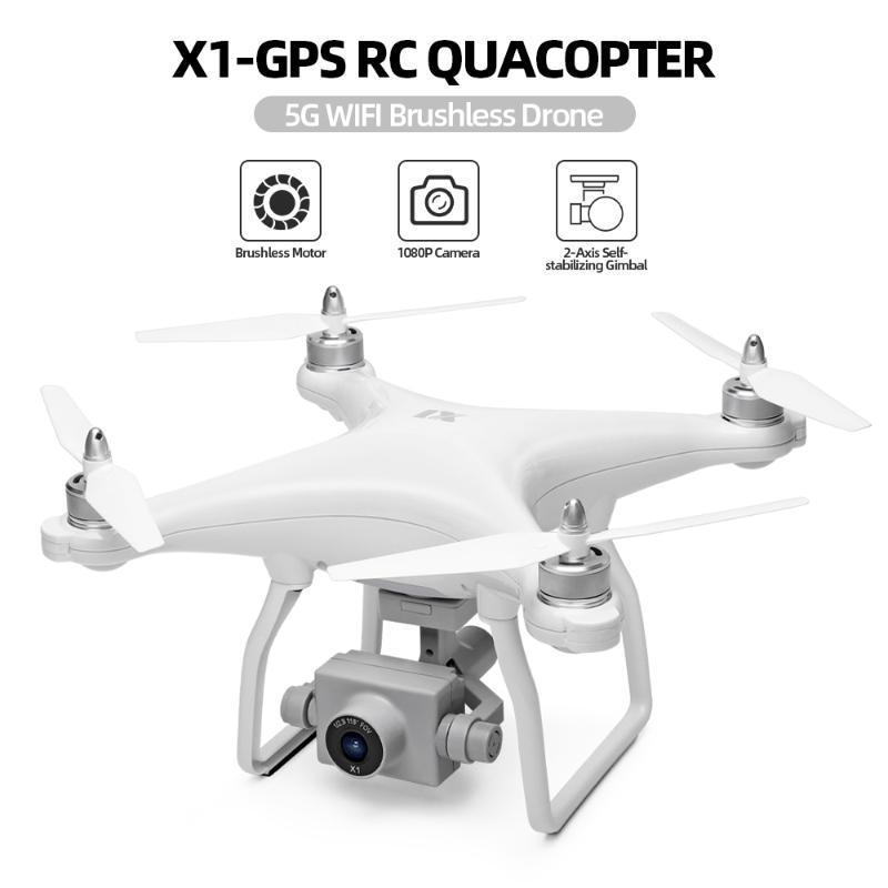 WLtoys XK X1 Drone с камерой 1080P 2-Axis Self-стабилизирующие Gimbal 5G Wi-Fi FPV GPS Brushsss Motor Live Video RC Quadcopter