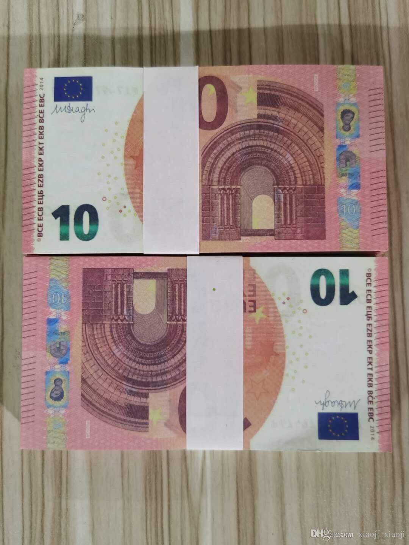 Business Euro Most Sentidy Bank Movie Note Nightclub Copia 10 per Prop Realistic 45 Fake Paper Money Collezione moneta moneta Gioca Iufsh