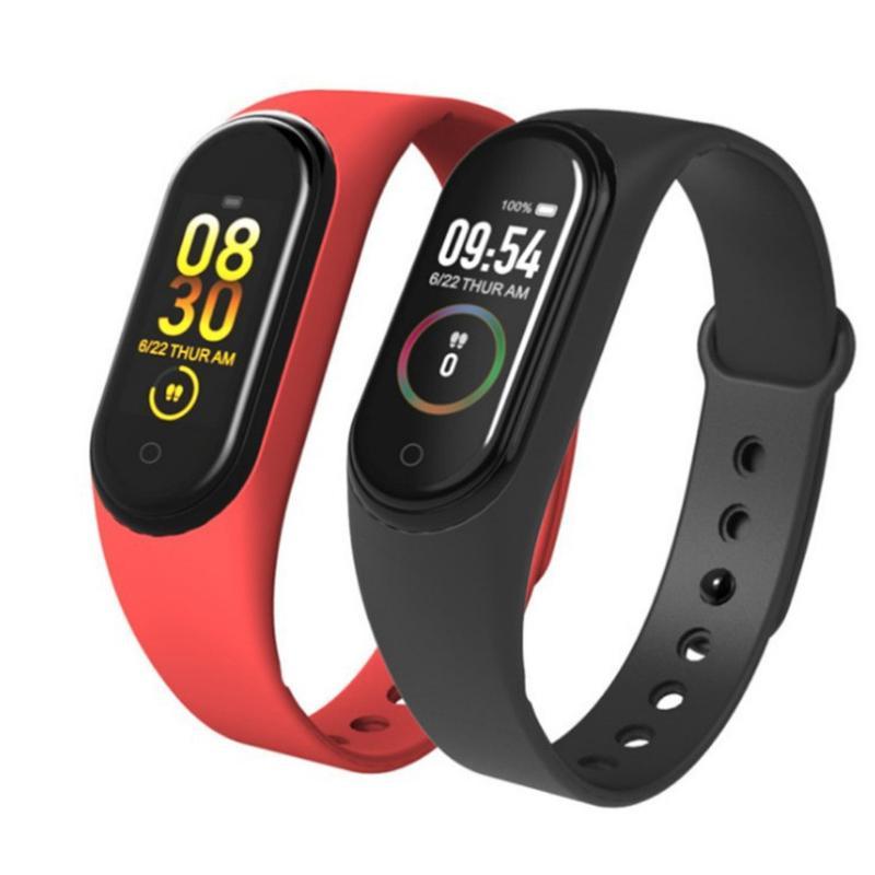 M4 Band Erkekler Kadınlar Spor Tracker Spor Akıllı Bilezik Dokunmatik Ekran Nabız Tansiyon Aleti Sağlık Bileklik Sıcak