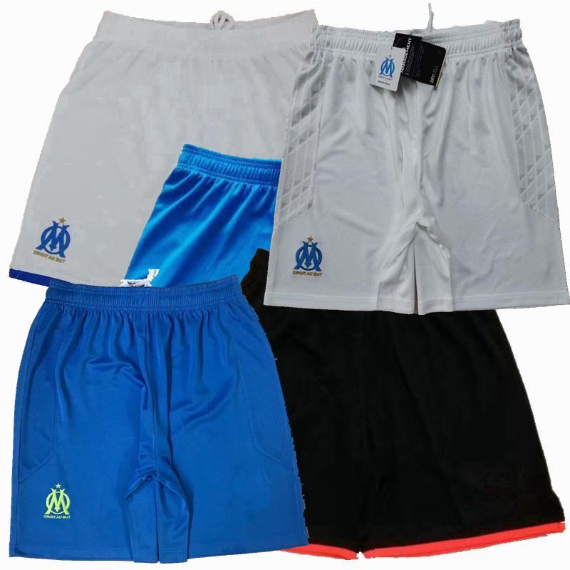 2019 2020 2021 Olympique de Marseille Fussball Shorts 19 Marseille 20 21 zu Hause weg 3. Fußball-Sport-Kurzschlusshosen S-2XL