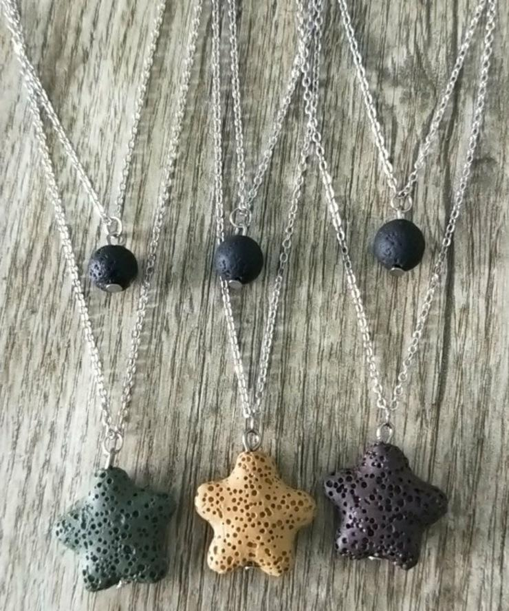 Shiying Jewelry Star doppelte vulkanische Stein-Halskette