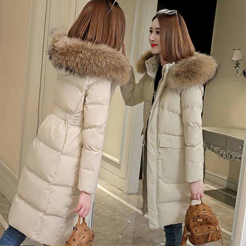 여성용 다운 파카 플러스 사이즈 재킷 여성 코트 모자 겨울 라이트 오리 따뜻한 두꺼운 여성 outwear 후드 긴 소매 의류