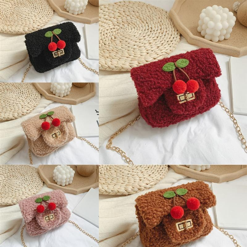 SNDe5 Luxurys Designers Child Satchel Heart Bag Crossbody Shoulder Bag Chain Love Bags Girl Cute Handbag V Cherry Handbag Wave Pattern Paae
