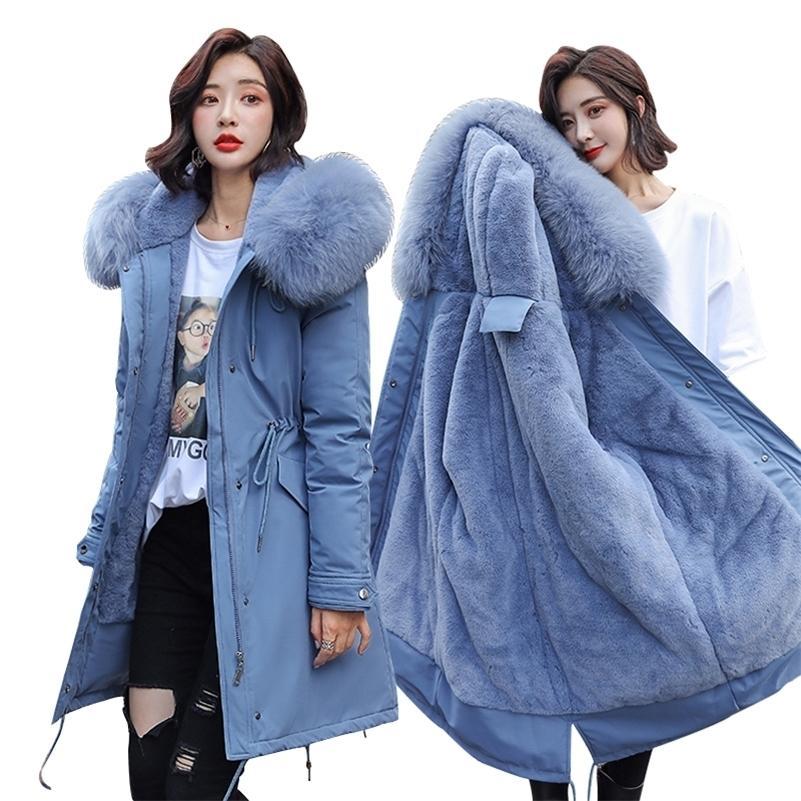 winter parkas & Jacket New winter -30 degree women jacket Parkas hooded fur collar thick section warm winter women jackets 201223