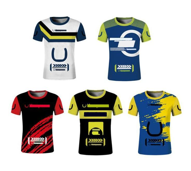 T-shirt off-road Moto New Off-Road Vehicle Manica Corta Asciugatura rapida Jersey Estate T-Shirt Racing Suit Velocità locomotiva Arrendosi