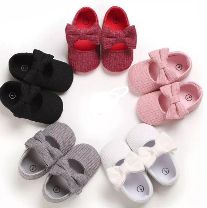 2021 Детские Девушки Обувь Первые Уокеры Малыши Предварительным Wewalkers Хлопковая Обувь Младенческая Мягкая Нижняя Нижняя Уокера 0-18м