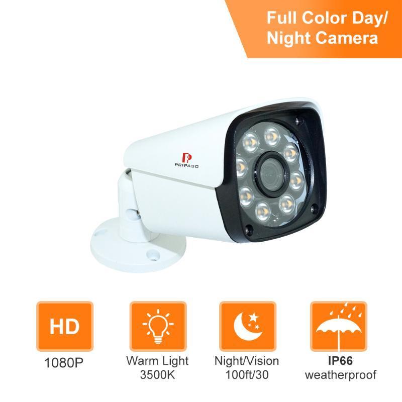 Caméras en plein air Caméra pleine couleur imperméable à l'angle de la caméra grand angle avec projecteur réglable automatique Light Light AHD