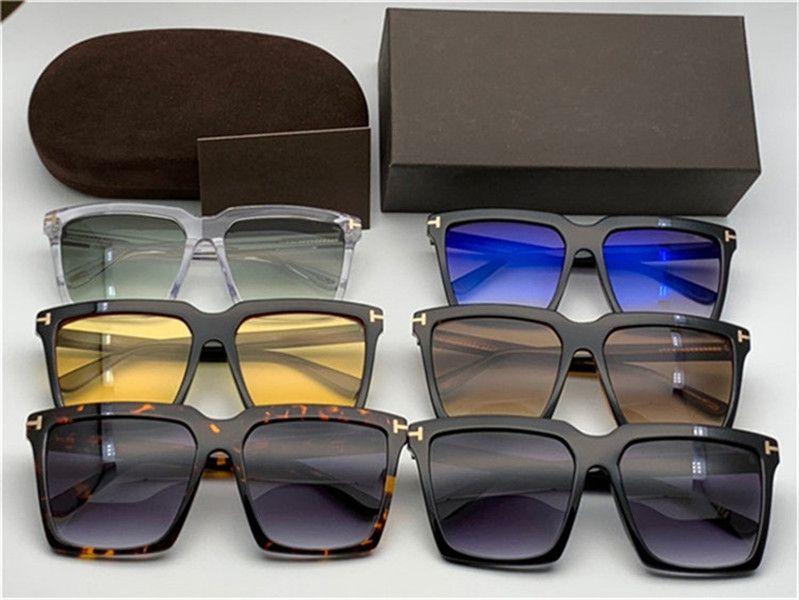 Frauen übergroßen Quadratische Sonnenbrillen 764 / s Havana Brown 0764 / S Sonnenbrille Gafas de Sol de Mode Übergroße Sonnenbrille mit Box