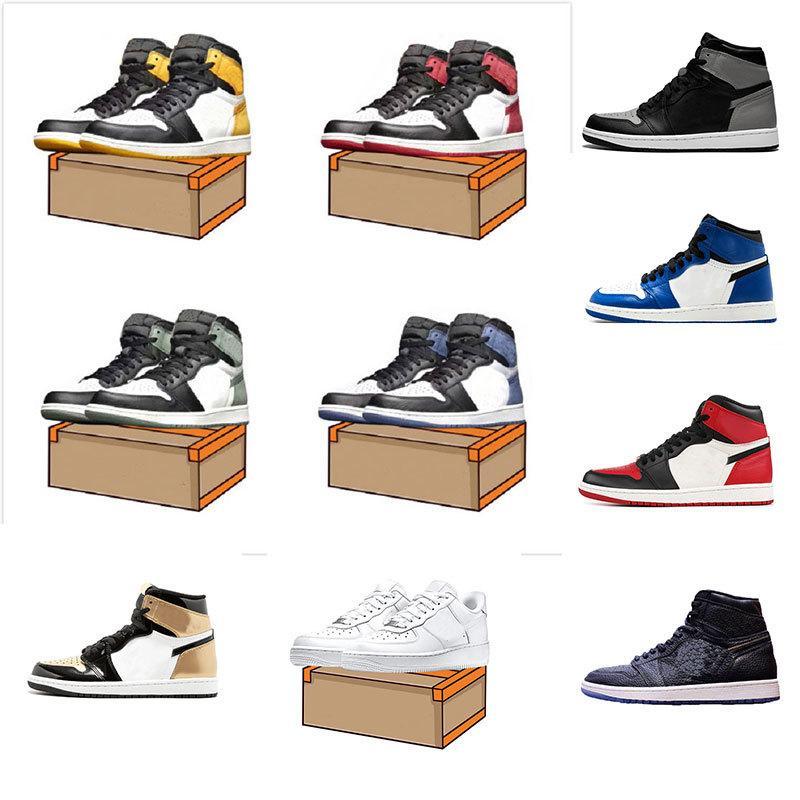 a buon mercato scarpe nuove 1 OG alta Banned nero rosso uomini bianchi scarpe da basket scarpe da donna di sport preparatori atletici delle scarpe da tennis di dimensioni 5,5-13