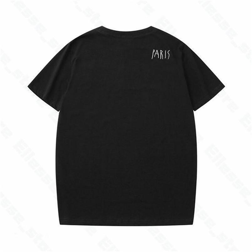 2021 Diseñadores Camisetas para mujer para hombre para hombre Camiseta de moda de París Camisetas de calidad superior Camisetas de lujo de manga corta de calle Asian M-XXL