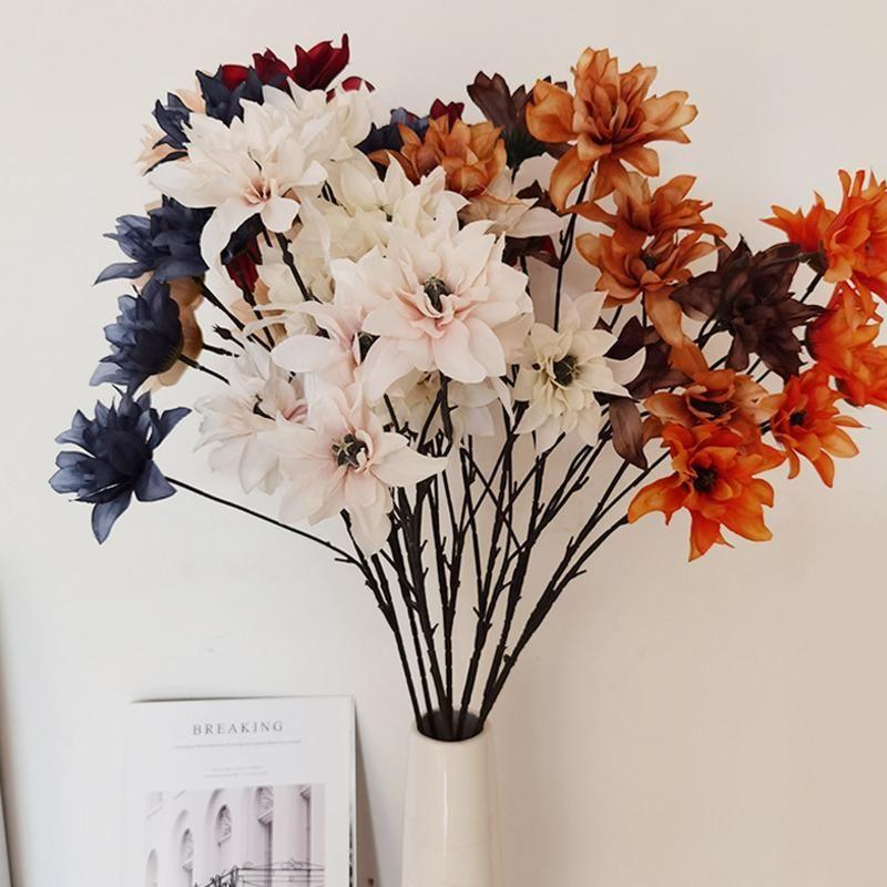 하나의 라텍스 나비 난초 장식 진짜 터치 phalaenopsis 난초 21 머리 집 3D 인쇄 결혼식 인공 꽃