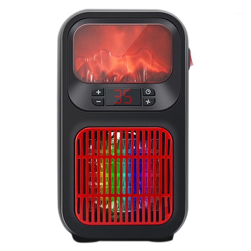 Aquecedores eléctricos inteligentes mini aquecedor de chama com 7 cores luz portátil ventilador espaço espaço espaço aquecimento aquecedor aquecedor fan1