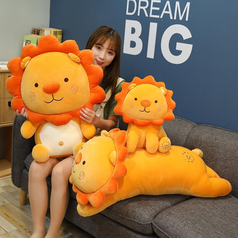 35-50cm Cute Lion Plush Toys Lovely Soft Stuffed Animal Doll Cartoon Sleep Pillow Kids Baby Kawaii Christmas Gift