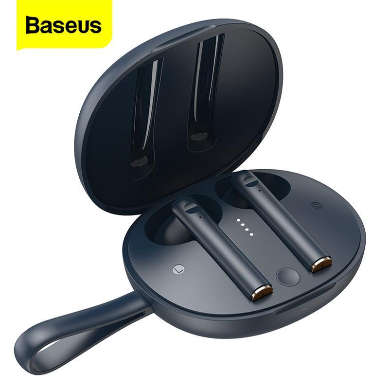 Baseus W05 TWS Беспроводные Bluetooth Наушники для наушников для Realme Poco X3 Huawei Стерео наушники в ушных наушниках