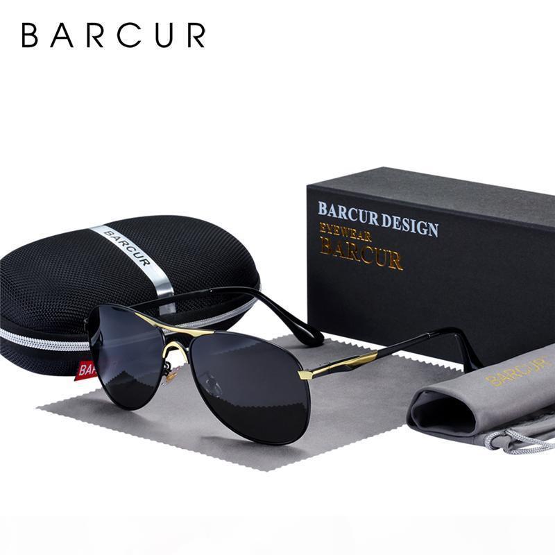 BARCUR Hohe Qualität Männliche Sonnenbrille Männer Polarisierte Marke Design Sonnenbrille Männliche Oculos Herren Sonnenbrille S8712 Marke