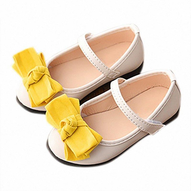 Scarpe neonate infantili solido di colore principessa ragazze Anti Slip scarpe in pelle morbida Sole Cat Spring No.5 cmEq #