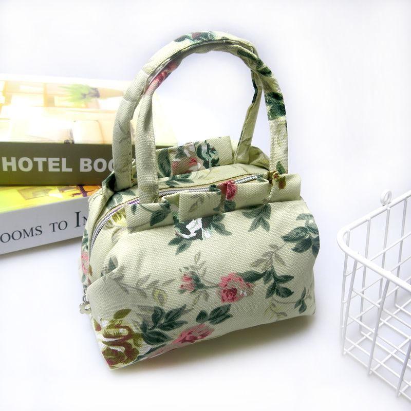 Borse borsa per le donne casual Mini Messenger Bag per la femmina della tela di canapa stampa Madre mobile insacca Telefono spalla
