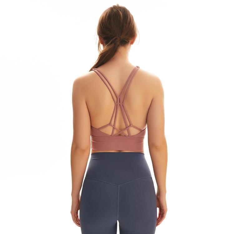 الدبابات الدبابات Yogaworld النساء الملابس الداخلية اليوغا الملابس الداخلية الرقص الجري اللياقة الرياضية الصدرية الصليب تصميم الجمال