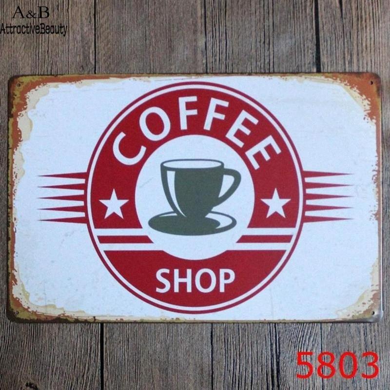 دائم الموضة الرئيسية المعلقة زخرفة الحديد الطلاء بيت القهوة، بار، الديكور A8v4 #