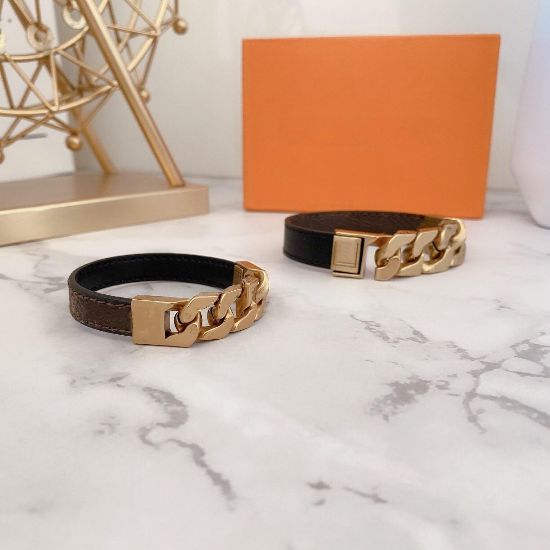 316L En acier inoxydable Bijoux Love Lock V Bracelets Bracelets Pultsiras Bracelets en cuir pour femmes / hommes bijoux