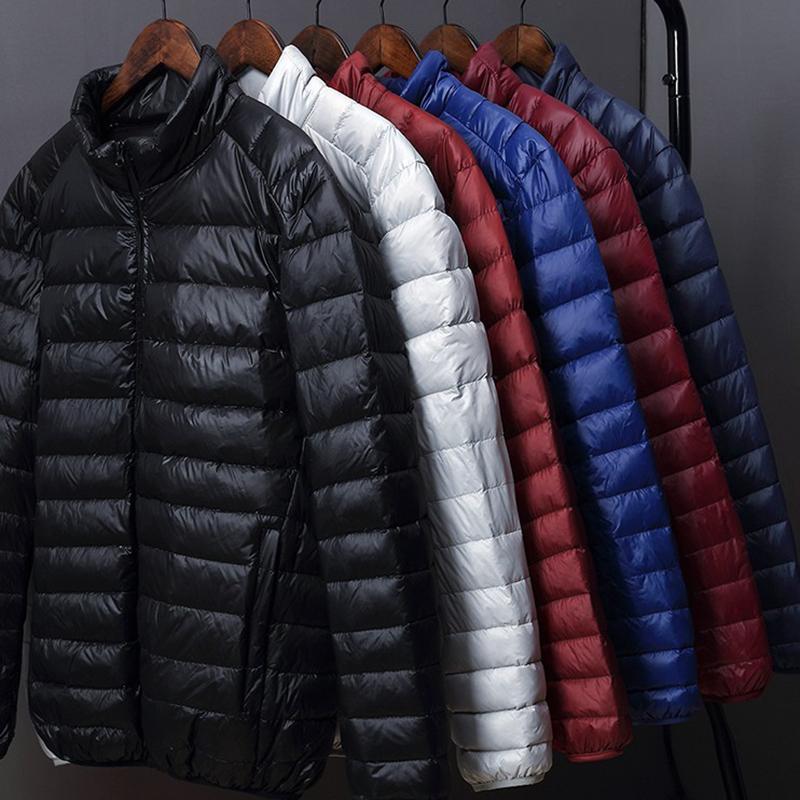 2020 зимняя мода бренда утка пуховик мужская ультра легкая уличная одежда перо пальто упаковочный водонепроницаемый теплый мужской одежды