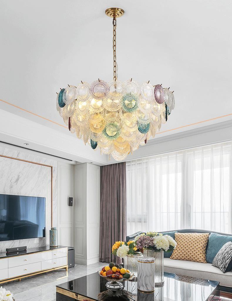 Современные люстры водить Витраж фары моды цветой люстры подвесных светильников творческой спальню личность столовой гостиной