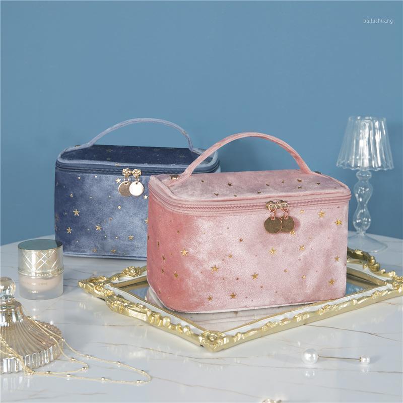 Новая европейская массовая косметическая сумка бархатная утолщенная косметика для помады хранение женское туризм стирки макияж1