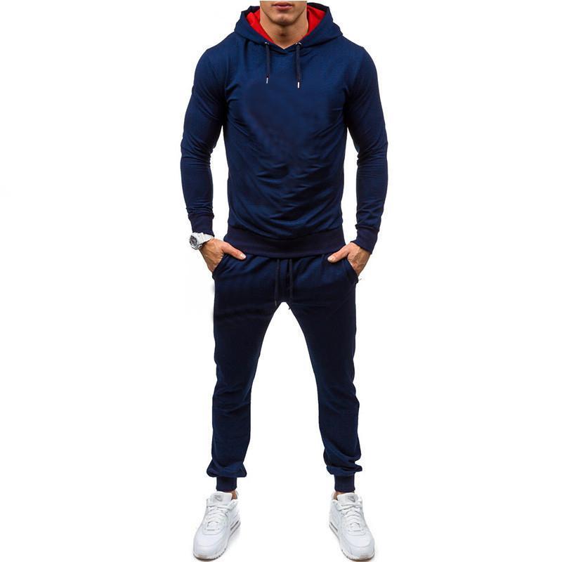 Ensembles sportifs Sweat à capuche pour hommes + Pantalons Impression Sports Spagne Casual Sweatshirts Tracksuit Sportswear Gyms Fitness Pantalon