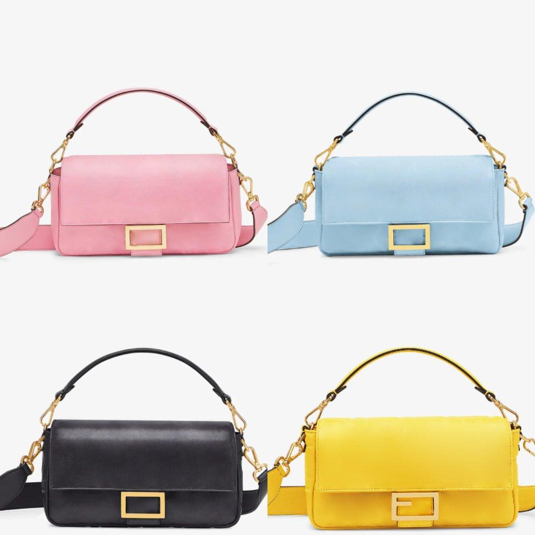 2020 5A qualità leathe autentico Borse a tracolla in nylon borse delle donne del raccoglitore di lusso Borse venduto progettista Crossbody bag Hobo borse baguette