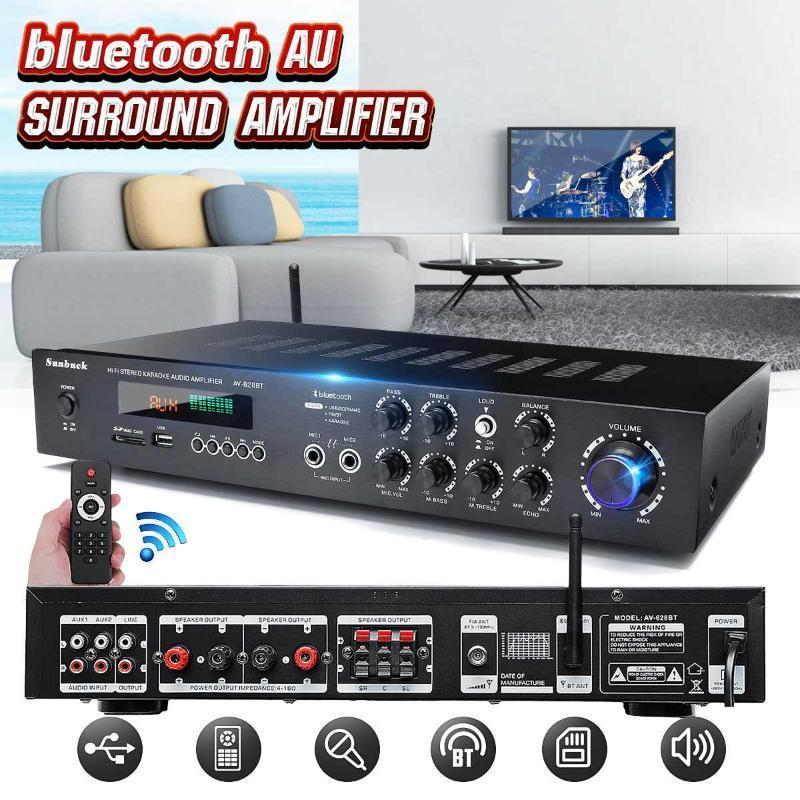 500W*2 LED Display Power 110V HiFi Surround Sound Stereo Audio Bluetooth Mic Remote Control FM MP3 Support1