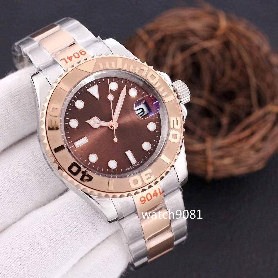 Mens Watch 40mm golden waterproof watches Strap Rose gold Automatic Movement Mechanical Stainless Steel Master Male Wristwatch